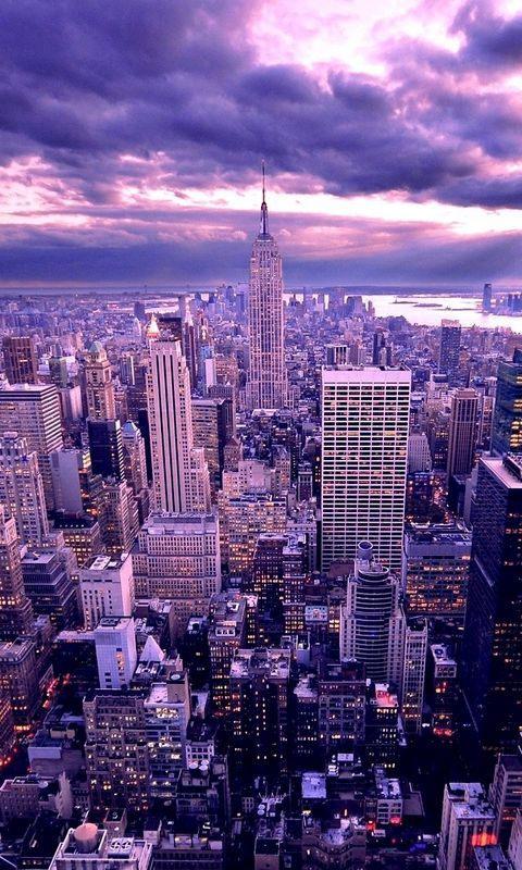 Download wallpaper 480x800 new york, skyscrapers, evening nokia x, x2, xl, 520, 620, 820, samsung galaxy star, ace, asus zenfone 4 hd background
