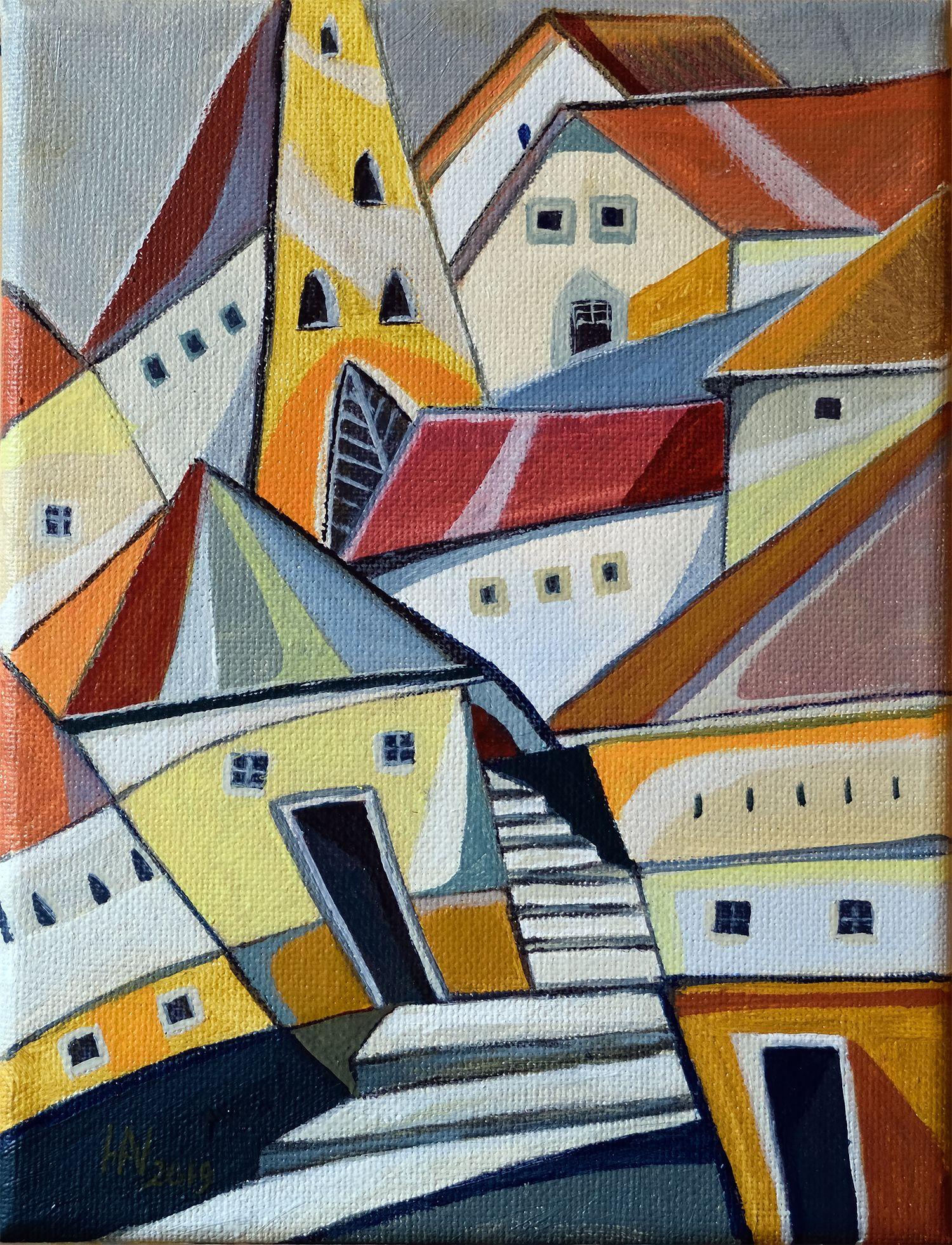 Treppe Zum Turm Öl Auf Leinwand Kunst Ideen Idee Farbe Öl Auf Leinwand