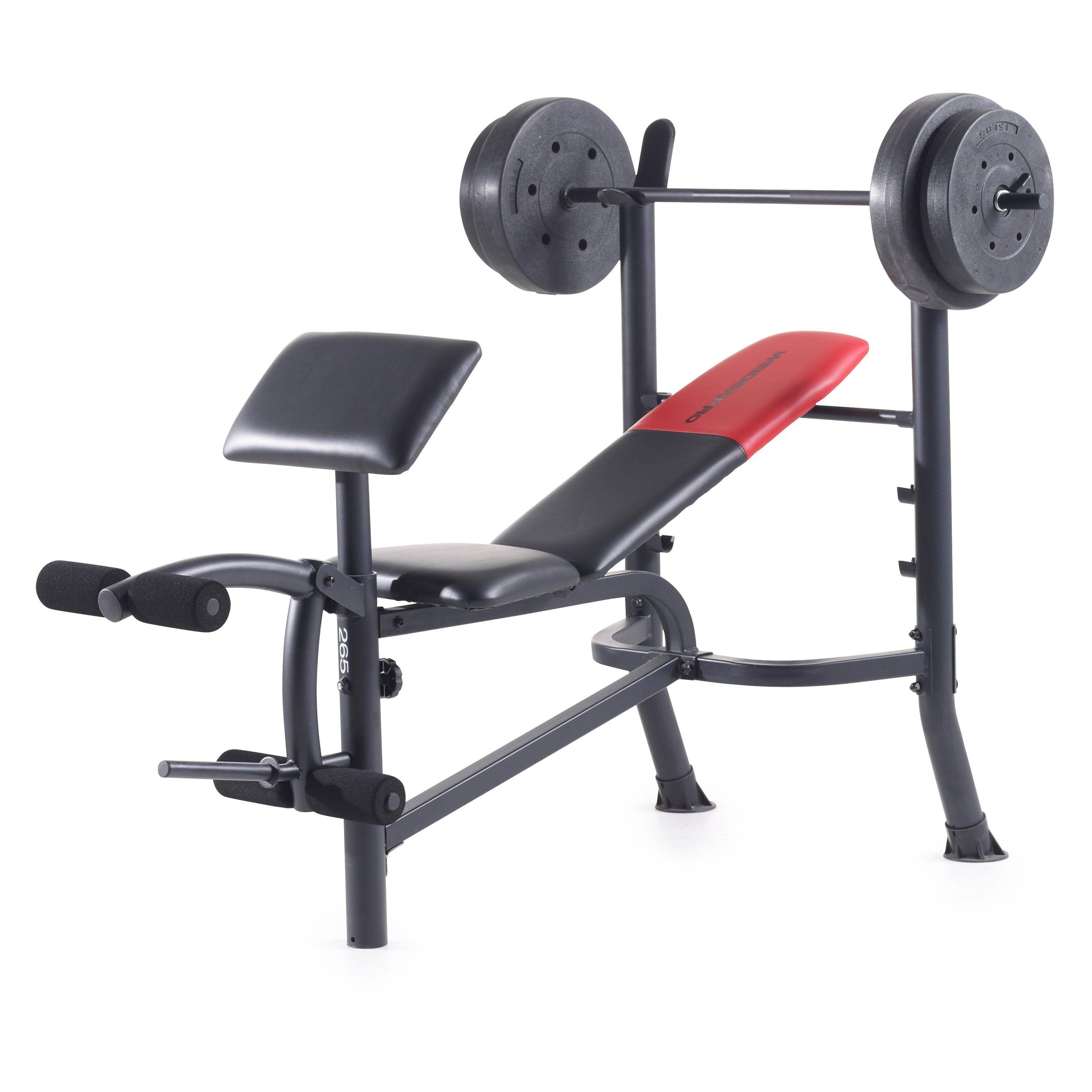 Weider Pro 265 Bench Press 15963 Weight Bench Set Weight