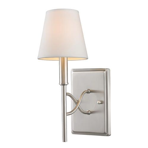 Bathroom Sconces Menards photon 1 light 11'' pewter incandescent wall sconce with opal