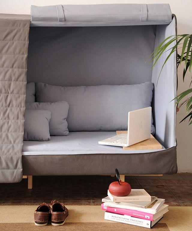 大人も 部屋に秘密の隠れ場所を作ろう ソファ 配置 インテリア 家具 部屋