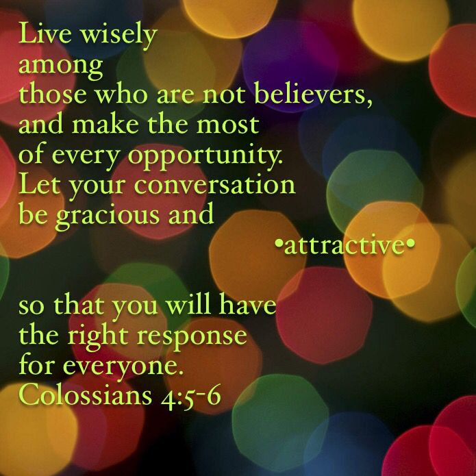 Christ and His believers should attract, not repel