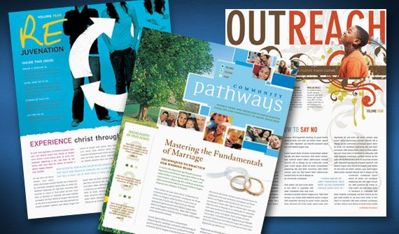 Creative Church Bulletins  Christian Newsletters  Layout