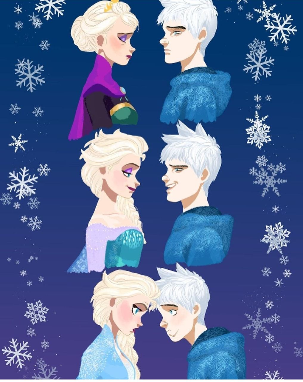 Jelsa Elsa And Jack Frost Fanart Frozen 2 Rotg By