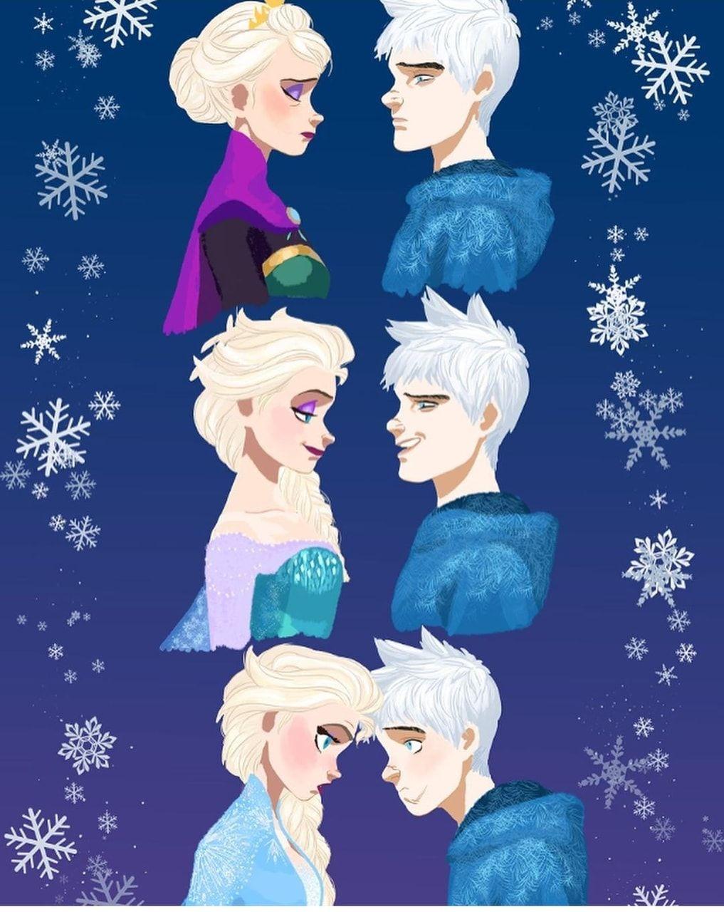 Jelsa   Elsa and Jack Frost Fanart   Frozen 5/ Rotg by ...