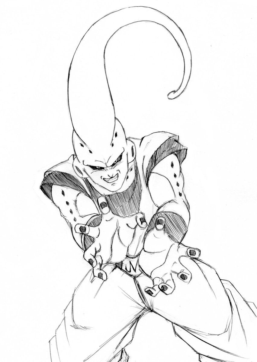 Buuhan sketch by yamasan dbz the show that never gets old pinterest coloriage dragon ball - Dessin dragon ball z kai ...