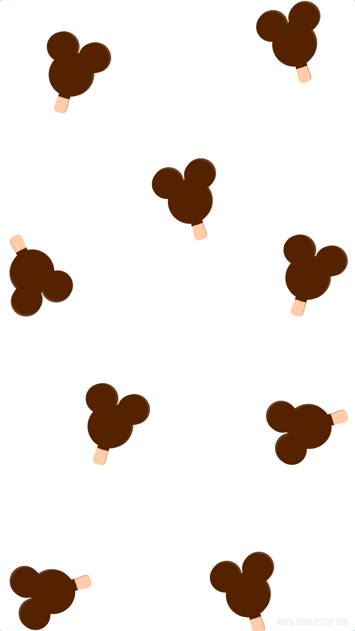 White, Mickey Ice Cream smartphone wallpaper in 2020
