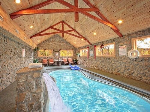 Bon Skinny Dippin   3 Bedroom Gatlinburg Cabin Rental: *Newly Listed Cabin  Starting PRIVATE INDOOR POOL AND THEATER ROOM! Luxurious Three Level Cabin  That Will ...
