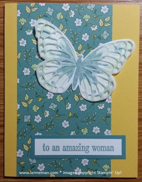 Watercolor Wings Happy Birthday Everyone Amazing Woman- Dena Lenneman, Stampin' Up! Demonstrator