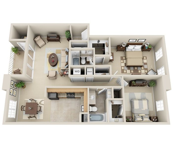 Me Gusta Small House Design Plans Sims House House Layout Plans