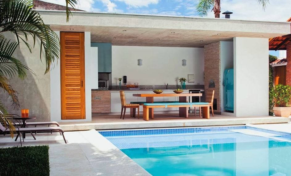 Imagenes de quinchos y piletas beach house quincho y for Casa moderna quincho