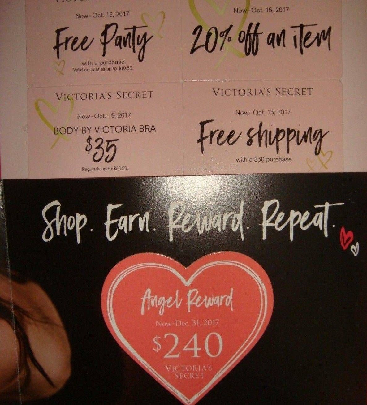 764b0ba9a1ff nice Victoria's Secret $240($480)ANGEL REWARD CARD+COUPONS NEW Use On-line