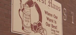 "Eustis, Nebraska was settled by German immigrants in the 1880's and has kept its rich German history. Today, tourists come for the sausage! Gregg Wolf is well known in this rural Nebraska community for his skill in making the best of the wurst""."