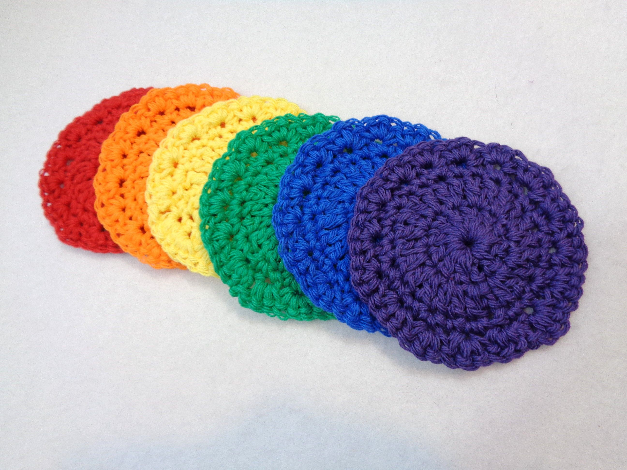 Rainbow Cotton Facial Cloths Cotton Coasters Baby Washcloths Reusable Ecofriendly Cloths Mother S Day Present Baby Washcloth Facial Cloths
