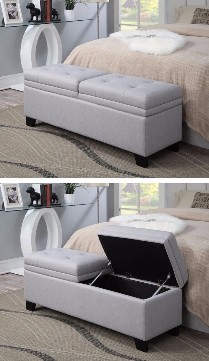 the finley upholstered storage bench creates style and function in