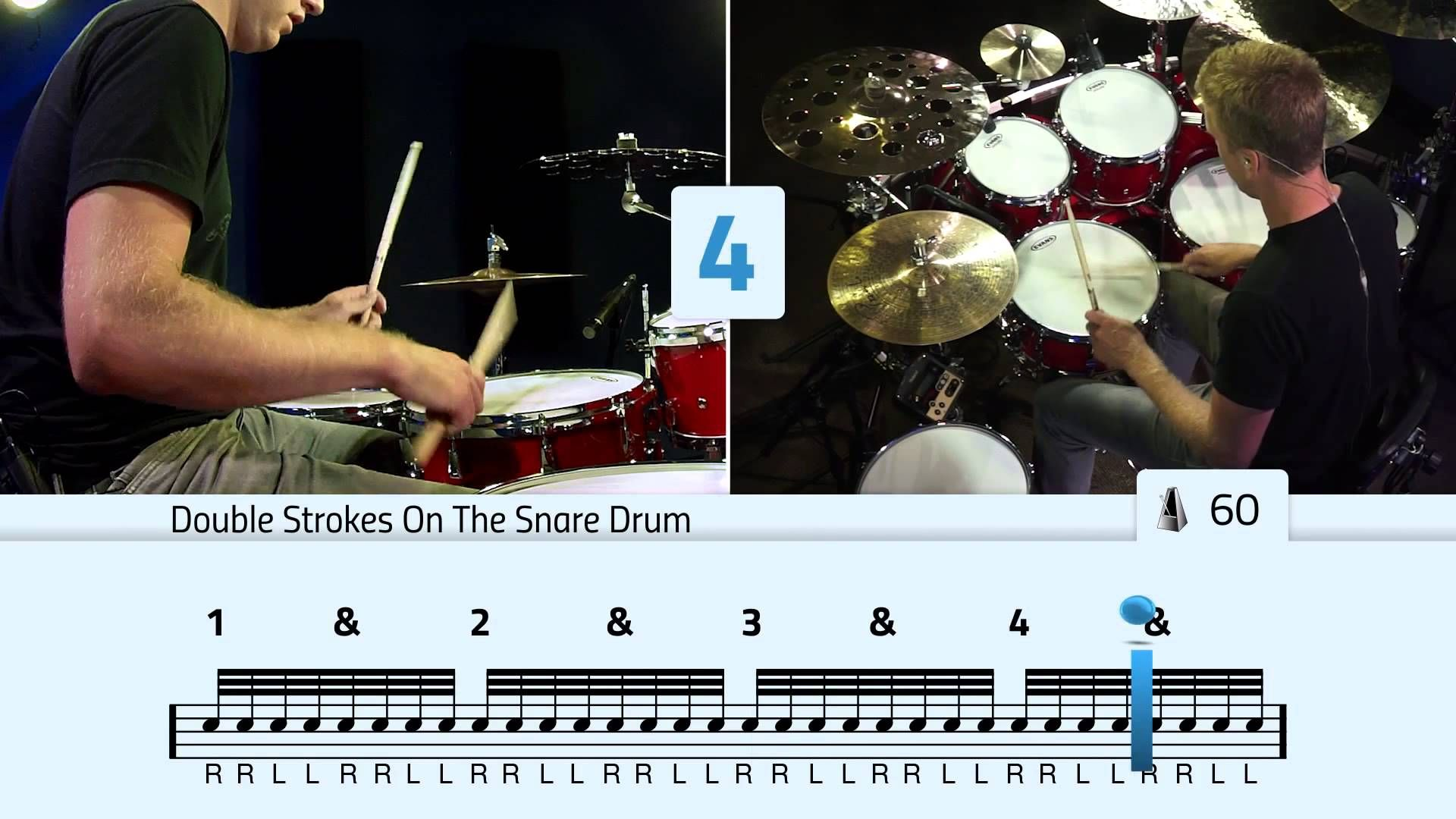 Double Stroke Rolls On The Toms Free Drum Lessons Drum