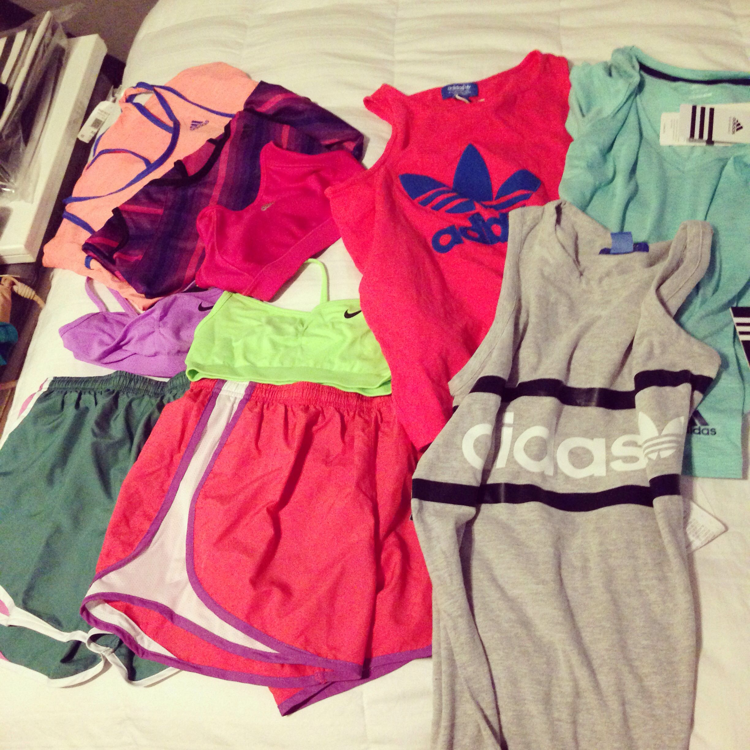 my newest purchases #workout #gear #fit #run #train #adidas #nike #love