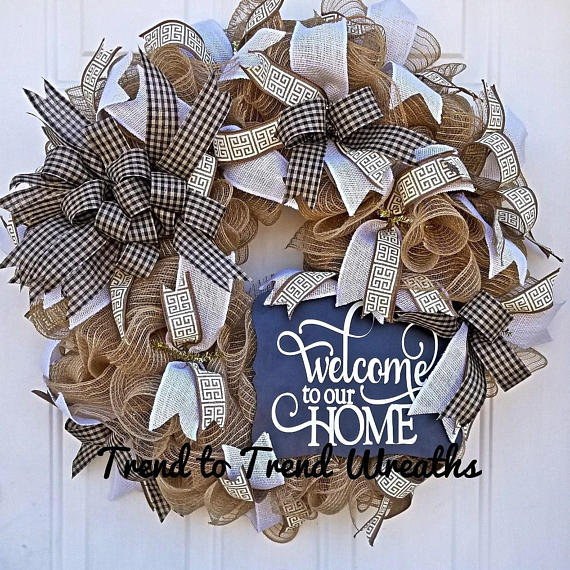 Welcome To Our Home Wreath Front Door