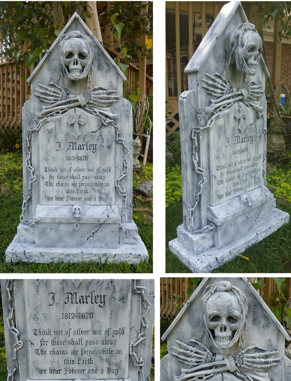 jacob marley tombstone by michael skaggs - Cemetery Halloween Decorations