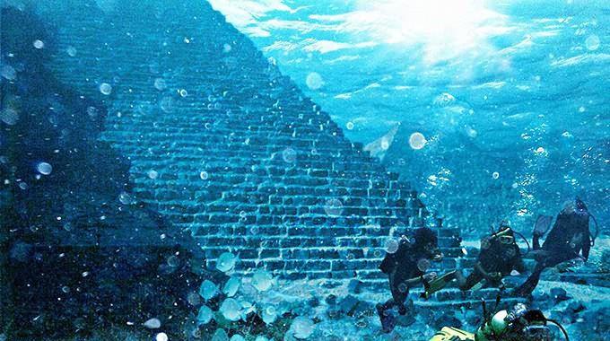 Image Result For Dwarka Underwater City Underwater City Underwater Ruins Ancient Pyramids