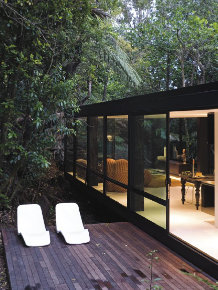 Forest House by Chris Tate, at Titirangi, a suburb of Auckland in New Zealand.
