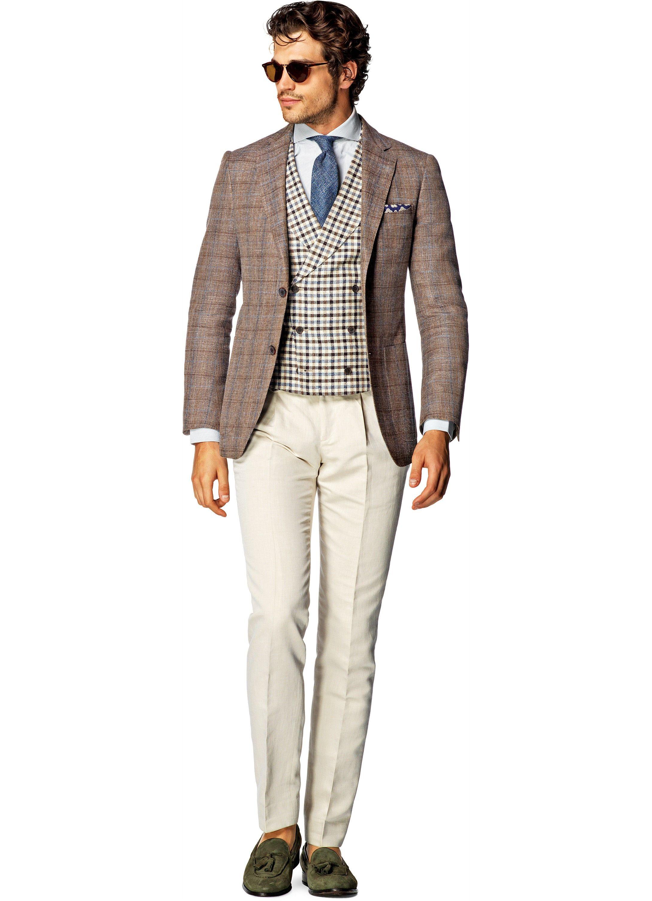 Jacket Light Brown Check Havana C836i | Suitsupply Online Store ...