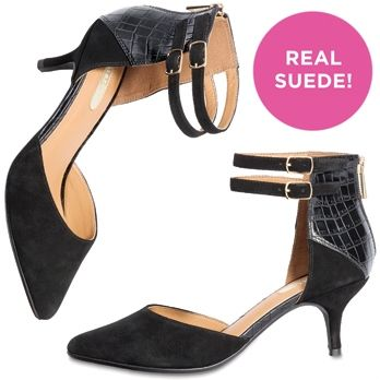 Hop on the kitten heel trend with mark. On The Double Heels! #shoes