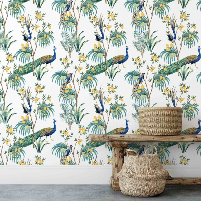 Chinoiserie Wallpaper Peel And Stick Wallpaper Removable Etsy Chinoiserie Wallpaper Peel And Stick Wallpaper Asian Wallpaper
