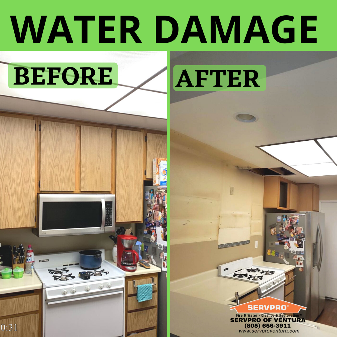 Water Damage Before And After Water Damage Ventura Damage Restoration