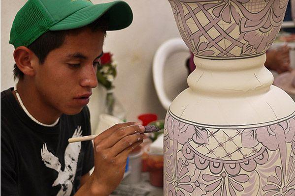 Mexican Talavera Pottery   Vases, Jars, Bowls, Crosses, Sinks