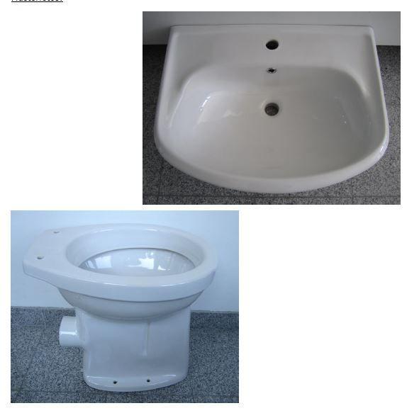 Badezimmer Set In Der Farbe Weiss Mit Folgenden 2 Bestandteilen