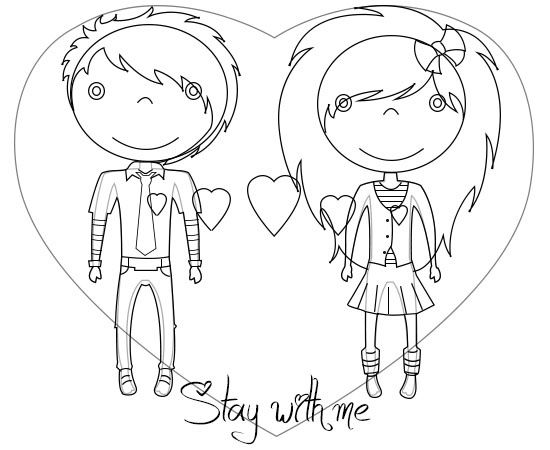 Follow these easy steps to draw really cute emo love cartoons draw an emo cartoons style voltagebd Choice Image