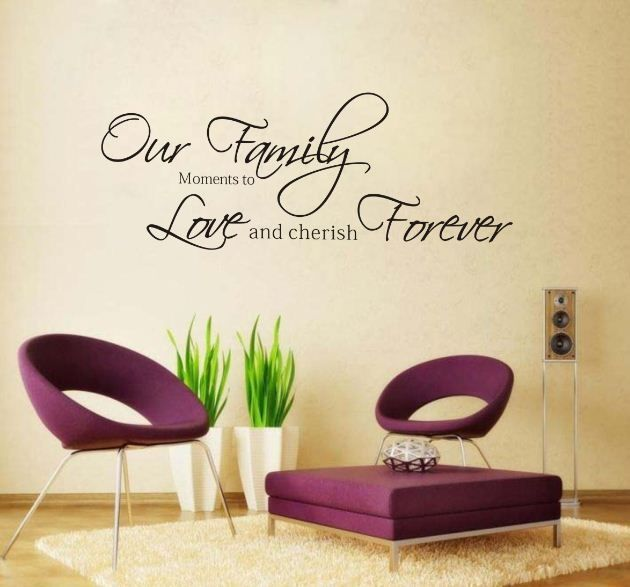Fashion Our Family Moments Removable Vinyl Wall Poet Art Word - Custom vinyl wall decals sayings for family room