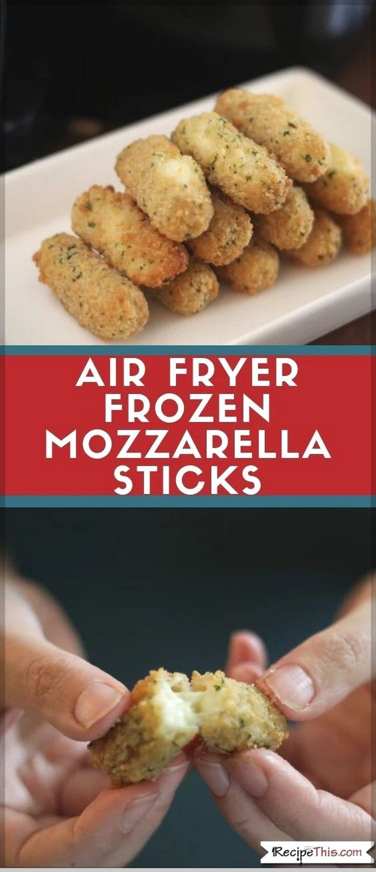how to make mozzarella sticks in air fryer without freezing