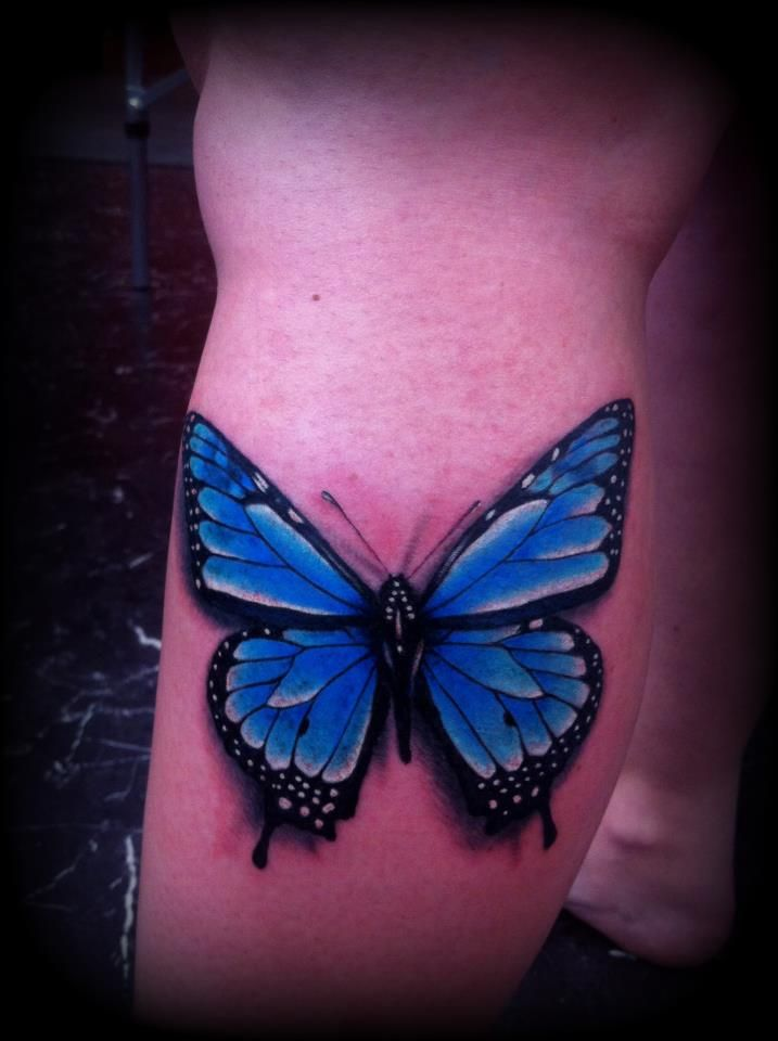 1bf92f65183d6 Realistic butterfly tattoo blue by ~Slabzzz on deviantART | Tattoos ...