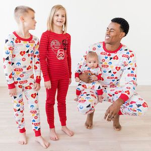 8a3ad66ad6 Family Matching Star Wars Valentines Day Pajamas