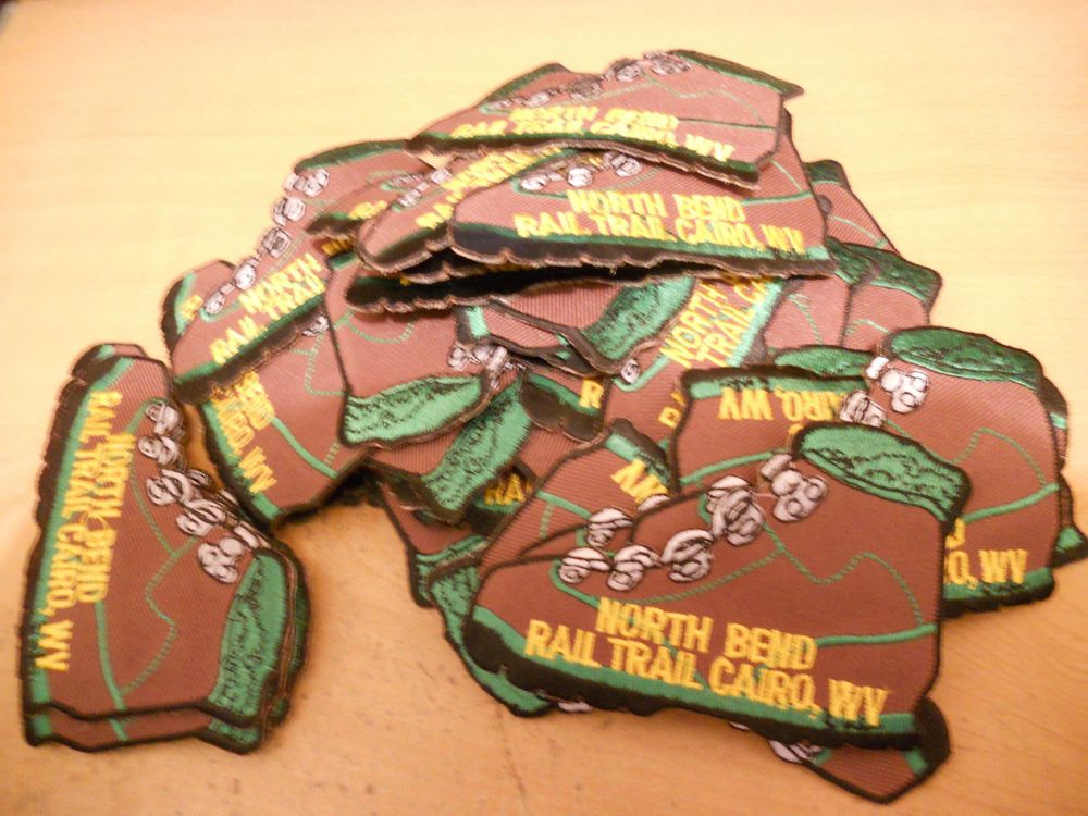 NORTH BEND STATE PARK RAIL TRAIL, CAIRO WEST VIRGINIA PATCH LOT of 46 3 1/2 x 2