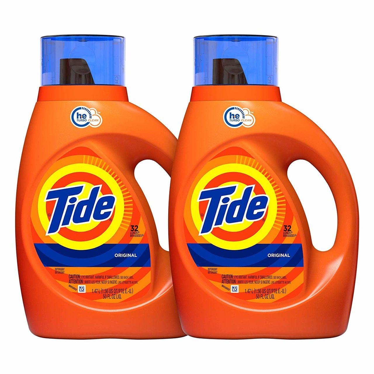 Tide Original Scent He Turbo Clean Liquid Laundry Detergent 50 Fl