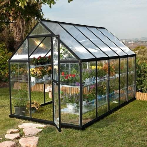Hybrid 6 Ft W X 10 Ft D Greenhouse Polycarbonate Toiture
