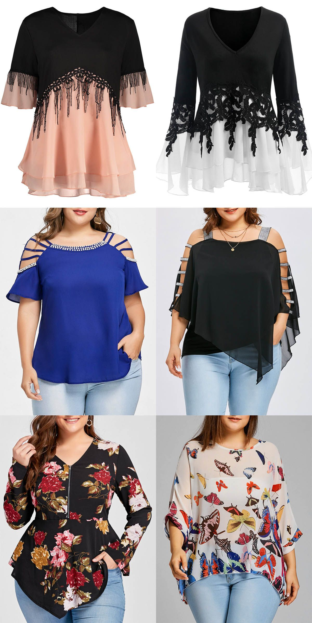 88a7b4d2ca01f Rosegal plus size blouses spring summer outfits for women