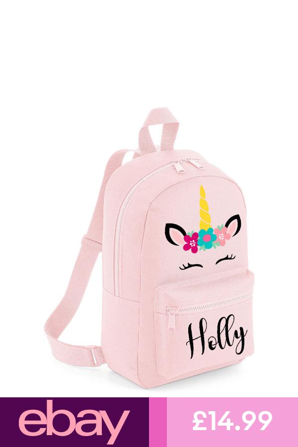 CBPU2 Personalised Unicorn Backpack with ANY NAME Back To School Bag Backpack Kids Children Teenagers School Student rucksack