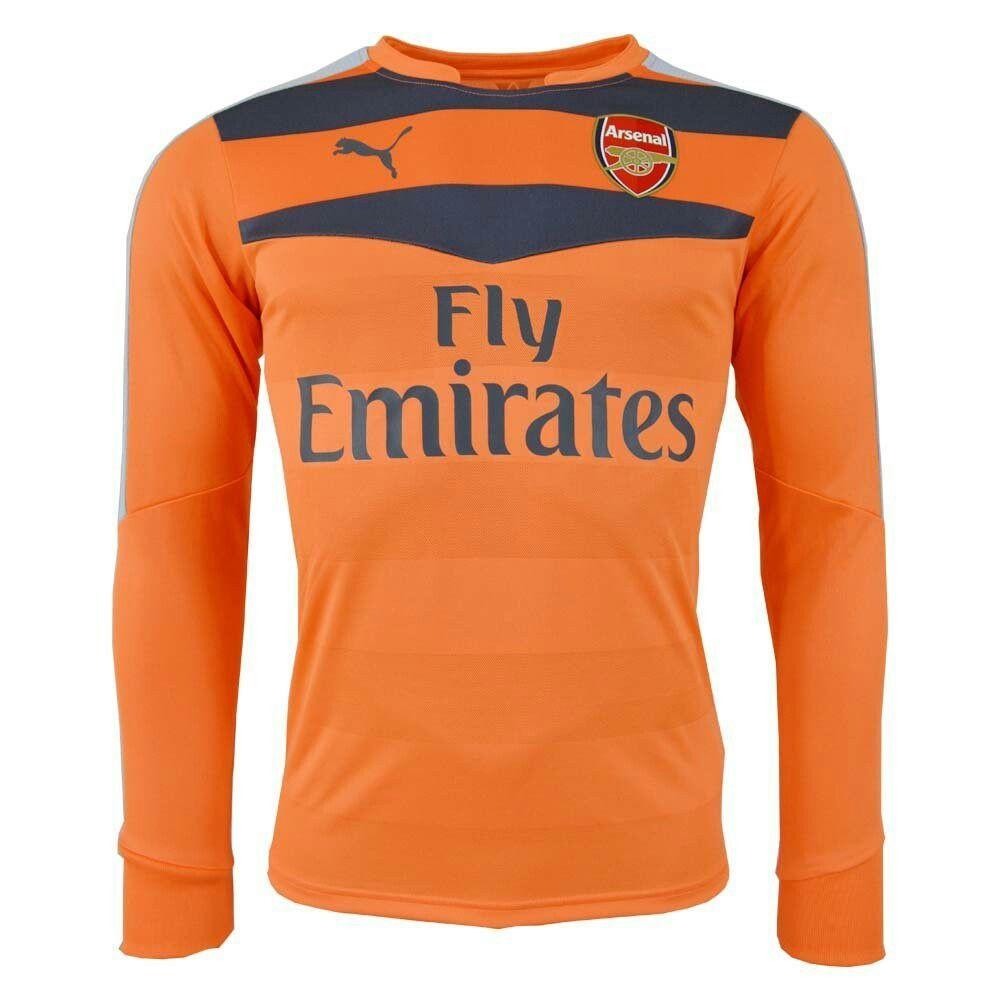 589117fd 2015-2016 Arsenal Puma Cup Goalkeeper Shirt (Nasturtium) | Arsenal ...