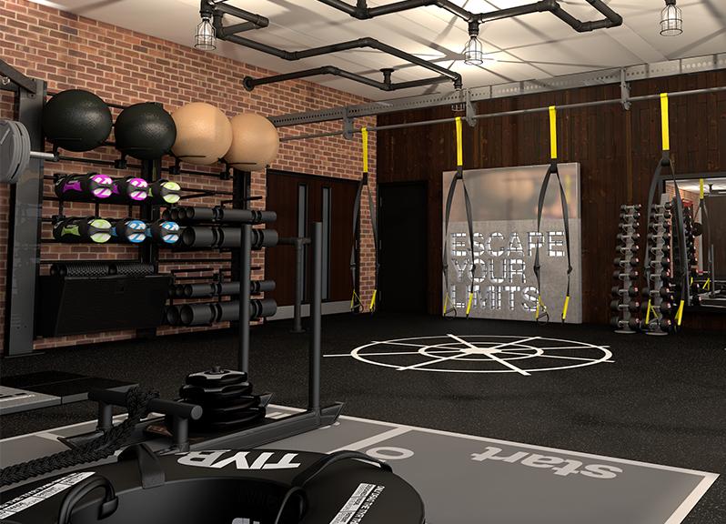 Gym Concepts And Design Escape Fitness Gym Design Commercial Gym Design Gym Interior