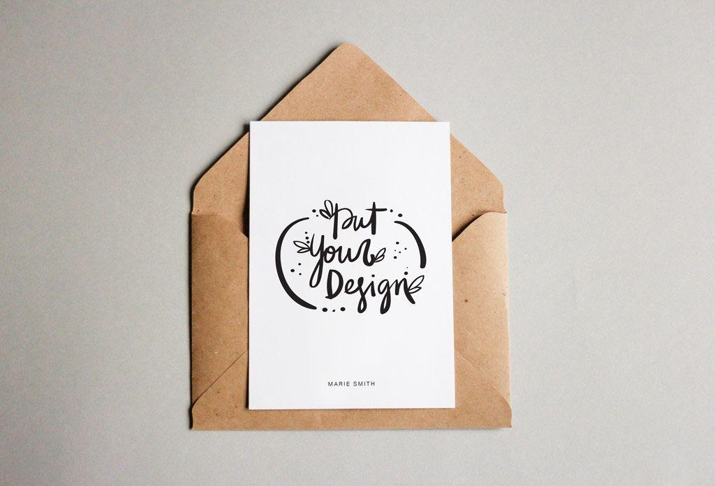 free-postcard-envelope-mockup-1 обложка для курсов Pinterest - envelope for resume