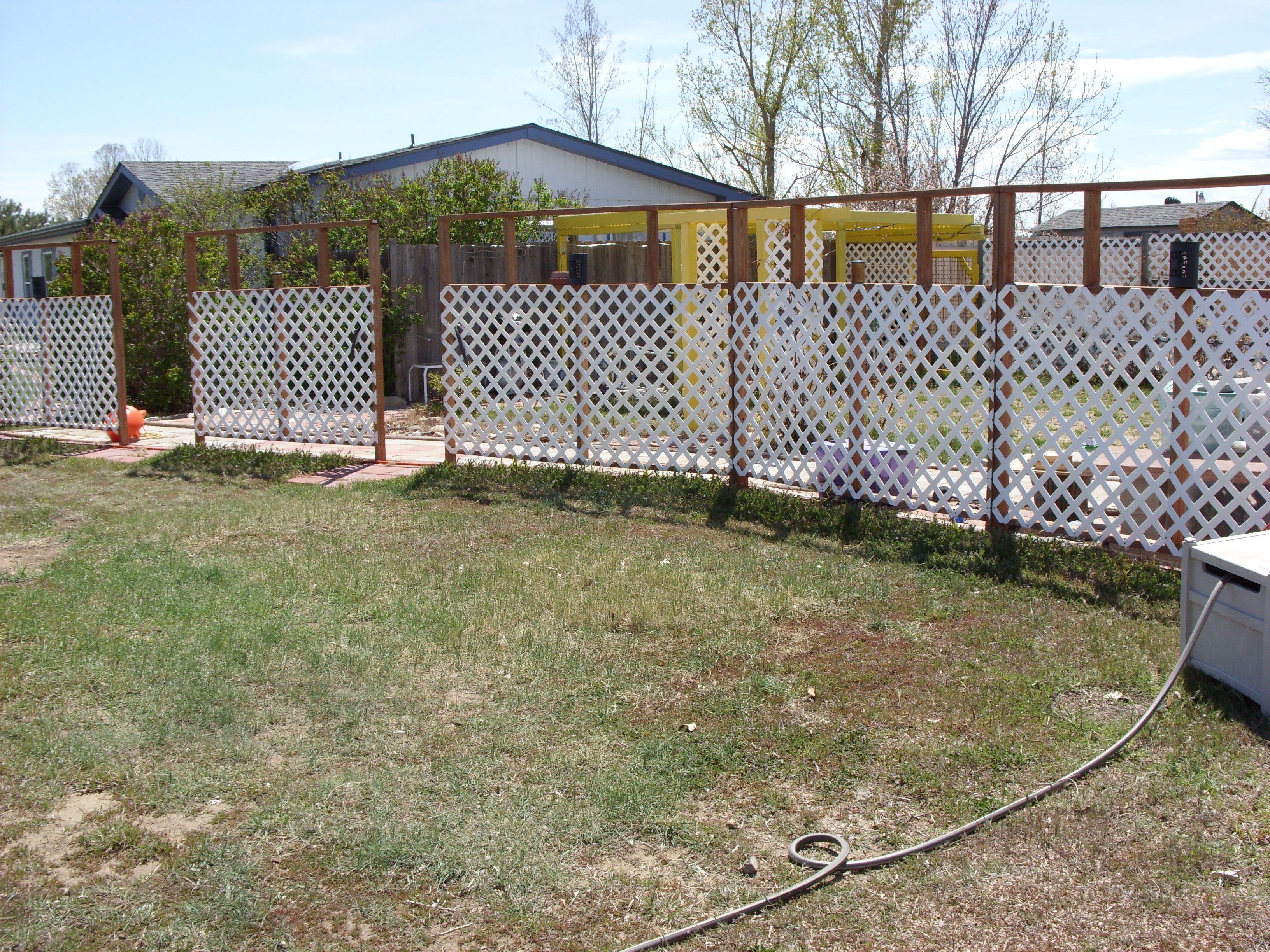 Garden decor trellis  Simple lattice fence  Outdoor Decor  Pinterest  Lattice fence