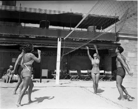 Volleyball At The Deauville Beach Club In1937 Built In 1927 On The Site Of The North Beach Bath House The Deauville Beach Club Was Patterned Af Annee 20 Annee