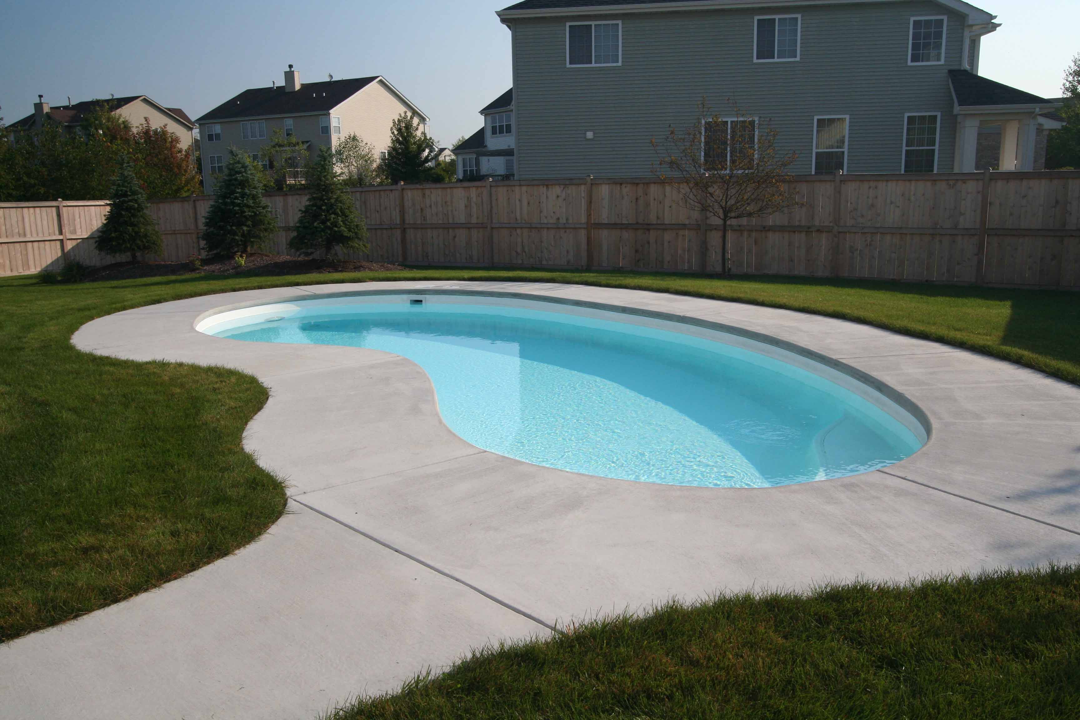 It s hard to believe a pool this large could be a fiberglass shell