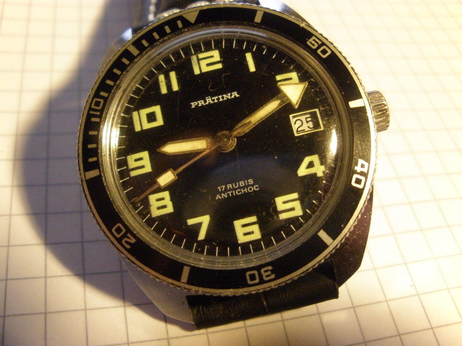 Prätina Jahre Diver 70er Armbanduhr Original Sammlerstück 4LqjRA35