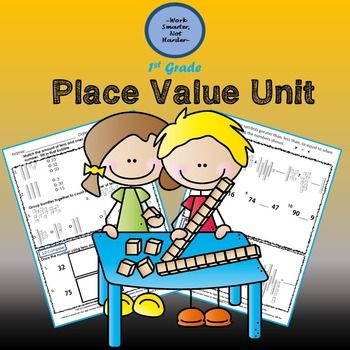 First Grade Place Value Unit Kit Math, Common cores and Common - place value unit