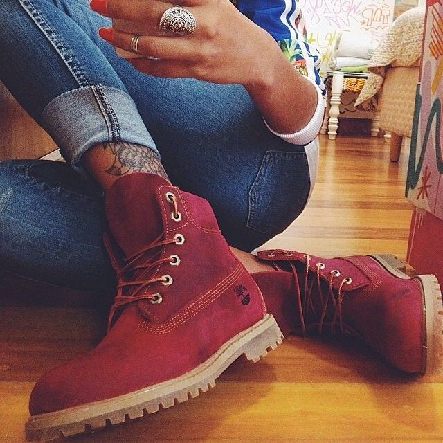 red timberland boots tumblr - Buscar con Google